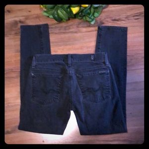7 For All Mankind Jeans Black Skinny Size 21